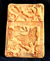 Polymer Clay ACEO 4 Butterfly by ValerianaSolaris