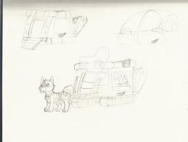 Daniel and his puphouse/vehicle! *WIP* by RaindropLily