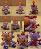 Sculpey: Blaze Chao by SaturnGrl