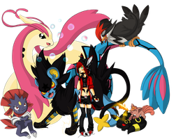 My Poke Team!~ by SavannaEve