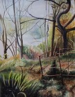 Woods watercolour by BecciES