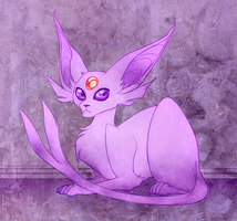 Espeon by CrystallizedTwilight