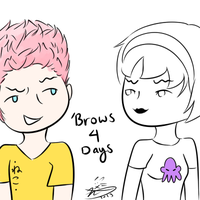 Brows 4 Days by my-name-is-totoro