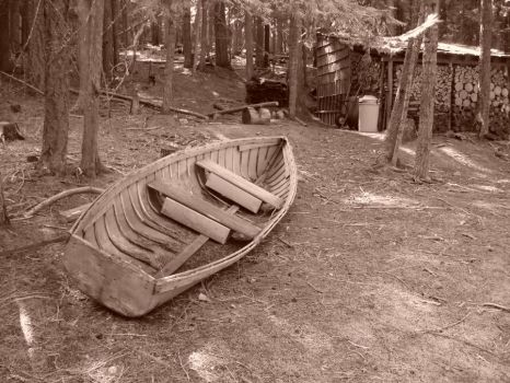 Rustic Row Boat by Freemag
