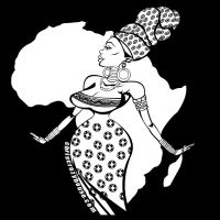 AFRICAN QUEEN Black white by chriscrazyhouse