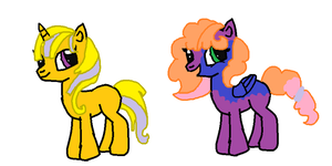 Simple Pony adopts by poseyangelo