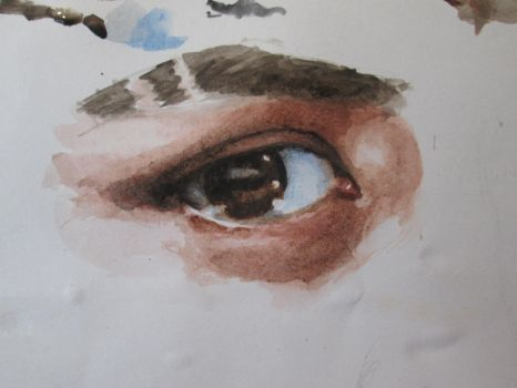 Watercolor eye practice by ValyaG