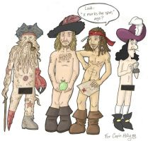 Naked Pirates by HapyCow