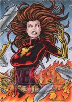 Dark Phoenix Sketch Card by tonyperna