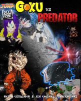 Goku vs Predator by vsking123