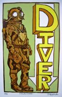 D is for Diver by chicolet