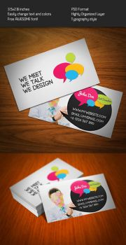 Bubble Talk Business Card by KaixerGroup