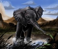 Baby Elephant by WackoShirow