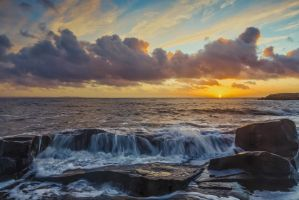 Sunset at the coast of sweden by roisabborrar