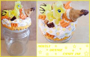 Mostly Orange Deco Candy Jar $20 by NamineEveningLight