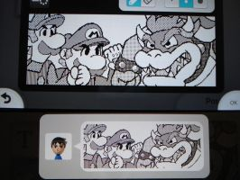 Miiverse - Mario and Luigi vs. Bowser by MAST3RLINKX