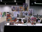My 1st artist alley table by ZIX89