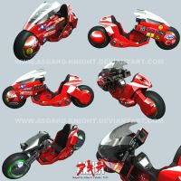 Kaneda's Bike 3D by asgard-knight