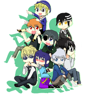 me and ma anime bros! by XGirlDeathX