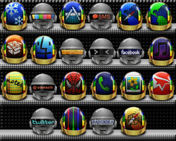 Daft Punk Iphone Theme Icons2 by Albagarto
