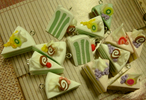 Fimo Swiss Roll Limey Cakes by SentinelDeMilo