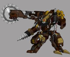 Steam Golem Goliath -2 by zeroatomic