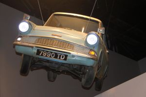 The Flying Ford Anglia by Skarkdahn