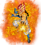 Super Saiyan God Gogeta by EliteSaiyanWarrior