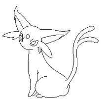 Espeon lineart1 by michy123