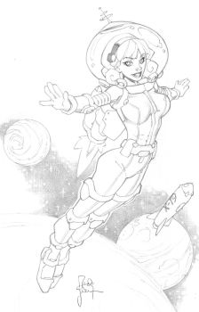 Space Girl from VA Comicon by RandyGreen
