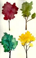 Watercolour Trees 8 by jewelsleydog13
