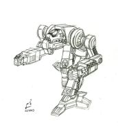 Sketch: Black Hawk OmniMech by prdarkfox