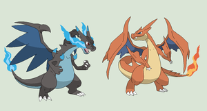 Pokemon Base 62~Mega Charizard X and Y versions~