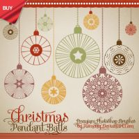 Vintage Christmas Balls Premium Brushes by Romenig