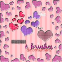 +6 Brushes de Corazoncitos. by SheWillBeFearless