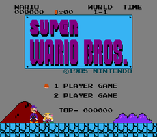 SUPER WARIO BROS. screenshot by Y-Mangaka