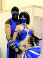 Kitana and  Sub-Zero by ZyunkaMukhina