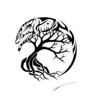 Spirit Wolf and Tree of Life by CalamityMoon