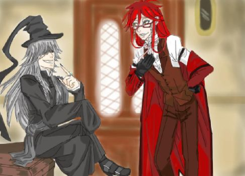 Grell serving the Undertaker by PlacebicYue