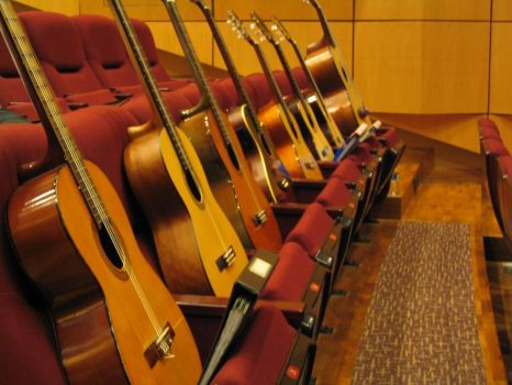 Guitars in a Concert Hall by slees