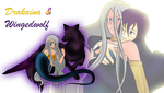 Drakaina and Wingedwolf:* by IcyCryStaLHeaRt