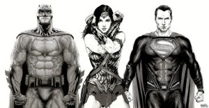 Batman V Superman Dawn of Justice Trinity by garnabiuth