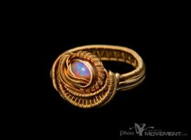 opal 18k gold ring by nonomie