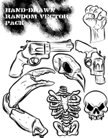 hand drawn random vector pack by ragingcephalopod