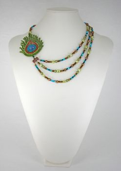 Peacock Necklace by Lady-Blue