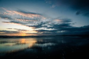 Wales Beach Sunset Waterscapes 2 by Samuel-Benjamin