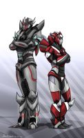 Red Raze and Degrate by SoulRobot