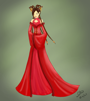 Chinese-style dress by Iliath