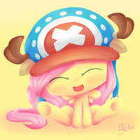 Fluttershy in Chopper's Hat by Oathkeeper21