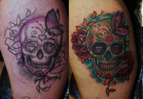 Free Hand Skull By Ivan by HammersmithTattoo